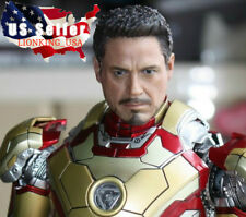 "1/6 Tony Stark Iron Man Head Sculpt For 12"" Hot Toys PHICEN Male Figure ❶USA❶"