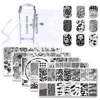 3pcs/kit Nail Stamping Plates Silicone Stamper Scraper for DIY Stamping Polish
