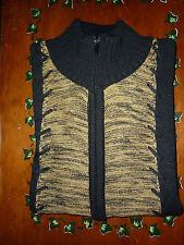 REBAJAS vintage chaqueta rebeca de punto lana y poliester negra mujer M l 42 44