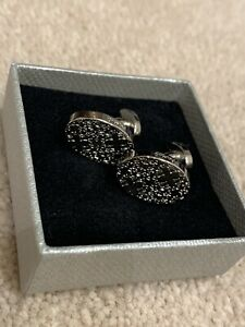 Mens Ted Baker Archive Oval Patterned Cufflinks.  New.  In Different Box.