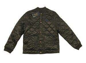 Polo Ralph Lauren Boys Black Quilted Button Snap Jacket