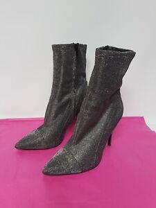 Guess Black/ Glitter Mid-calf Soft Boots US 7.5