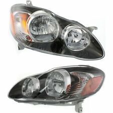 2005 2006 2007 2008 FOR TY COROLLA HEADLIGHTS RIGHT & LEFT PAIR BLACK XRS