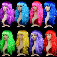 1xWomen's Sexy Long Curly Fancy Dress Wigs Cosplay Costume Ladies Full Wig Party