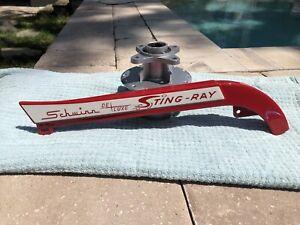 Vintage Schwinn Stingray Deluxe Wingtip Chainguard Opaque Red Repaint