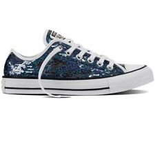 Converse Patternless Lace-up Flats for Women