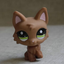 Chocolate brown Wolf Dog Action Figure gift LPS mini LITTLEST PET SHOP #2440