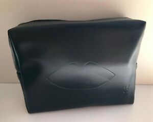 "YSL Beauty Black ""Lip"" Makeup Cosmetics Bag / Pouch / Clutch / Case, Brand New!"