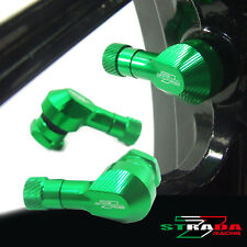 "Strada 7 83 Degree 11.3mm 0.445"" inch CNC Valve Stems Honda CBR500R 13-15 Green"