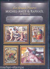 CENTRAL AFRICA 2012  THE GREATEST PAINTERS MICHELANGELO RAPHAEL  SHEET  NH