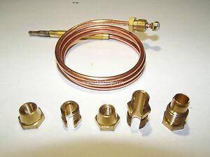 Thermoelement Universal mit 5 Adaptern 600mm / 900 mm / 1200 mm Gasgeräte