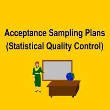 Acceptance Sampling Plans (Quality) based on MIL-STD 105D & 414 - Training Kit