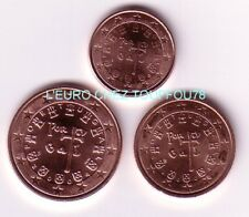 Pièces de 1,2,5cts euro du Portugal 2004.