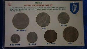 IRELAND MODERN UNCIRCULATED TYPE SET 7 COINS