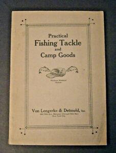 1916 Von Lengerke & Detmold Practical Fishing Tackle Camp Goods Catalog Antoinne