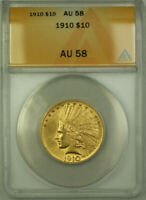 1910 Indian Gold Eagle $10 Coin ANACS AU-58