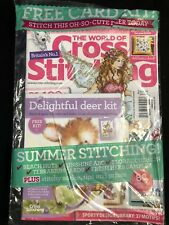 World of Cross Stitching magazine UK with Delightful Deer card kit gift