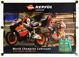 Vintage Original Poster Nicky Hayden Honda RCV GP Repsol Andy Caldecott Dakar