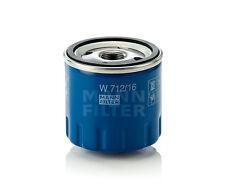 MANN Oil Filter W712/16 - Fits Alfa Romeo Spider 147 156 2.0 GTV 16V Twin Spark