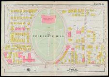 1919 G.W. BROMLEY SOUTH BOSTON HIGH SCHOOL & TELEGRAPH HILL, COPY PLAT ATLAS MAP