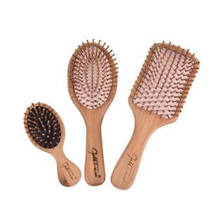 1PC Wooden Massage Hairbrush Comb Scalp Health Care Paddle Brush_TI