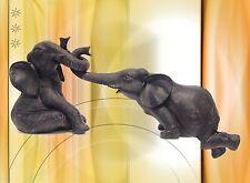 Elefanten Kinder Gruppe Skulptur Souvenier Afrika schöner Wohnen Wand Tischdeko