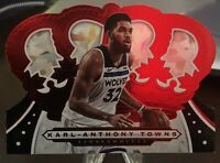 2019-20 Panini Crown Royale #60 KARL-ANTHONY TOWNS Die-Cut Crystal Parallel