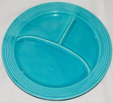 """Fiesta® Dinner Ware, Vintage 10 1/2"""" Compartment Plate, Divided, Turquoise"""