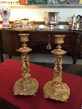 Antique French Gilded Candelabra In Pair Circa 1890
