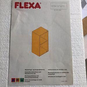 FLEXA CABINET with SHELF, WHITEWASH FINISH,   #70000214,  QUALITY! NIB!
