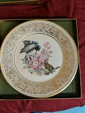 Lenox Boehm Birds Collectible Plate 1980 Black Throated Blue Warbler A+
