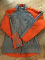 Nike Women's Athletic Running Outdoor Jacket Orange/Gray Size Small EUC