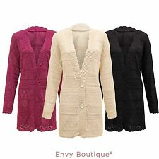 V Neck Button Jumpers & Cardigans Plus Size for Women