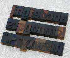"A-Z alphabet 2.13"" letterpress wooden printing blocks wood type vintage rare"
