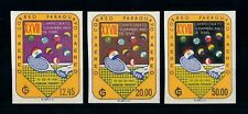 [72360] Paraguay 1961 Sport Tennis Imperf. Airmail Stamps MNH