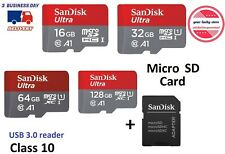 Mini Sd Memory Card Micro 16 32 64 128 GB Class 10 Fast Tf Ultra Adapter Android