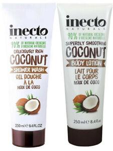 Inecto NATURALS COCONUT OIL Body Wash + body Lotion