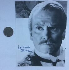 Sir Laurence Olivier (1907-1989) British actor signed magazine photo.