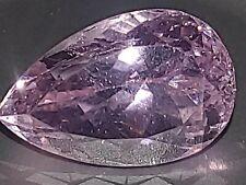 Kunzite. light pink, 12.535 ct., 18mm*11.8mm*9.5mm, pear,