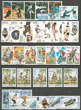 Laos  nice collection used stamps - Sport