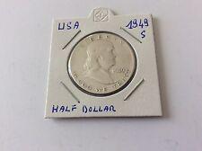 1 pièce en argent half dollar USA 1949 S