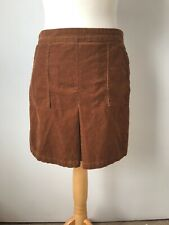 Light Brown A Line Pleated Cord Short Mini Skirt M Forever 21 Winter Mod