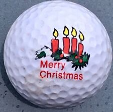 Ping Eye golf ball All white Christmas Candles logo Lot good  xmas Collect