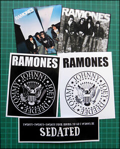 THE RAMONES, Exclusive Set of FIVE Large Glossy Promo Stickers