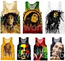 Reggae Singer BOB Marley 3D Print Sleeveless Tank Top Men Women Singlet Vest Tee