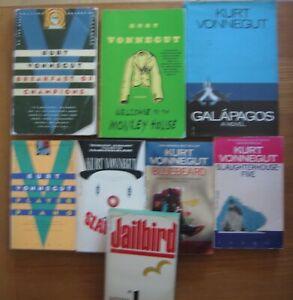 lot: 8 KURT VONNEGUT JR paperback books