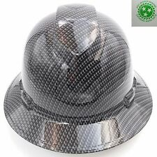 Hard Hat FULL BRIM custom hydro dipped , OSHA approved CARBON FIBER GRAY NEW