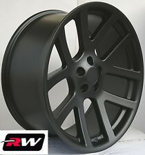 "20"" inch Dodge Ram 1500 SRT10 OE Factory Replica Wheels SRT 10 Matte Black Rims"