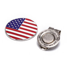1pc american flag design golf ball markers with golf hat clips golf accessories
