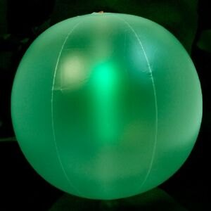 Play Glow Glow-in-the-Dark Beach Balls with Glow Sticks, 12 in.~Green 2PACK